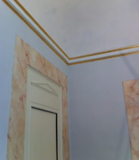Gilding, faux marble and whitening