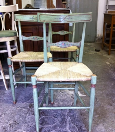 Restoration of six chairs