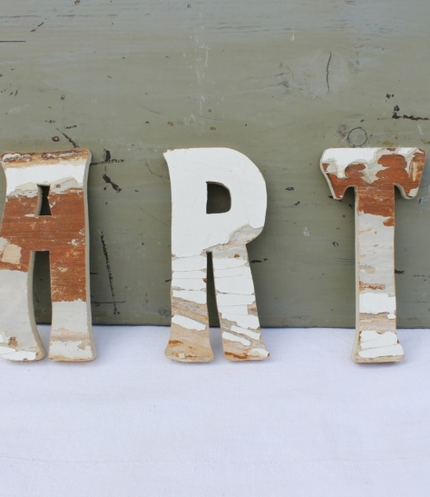 Selection of wooden letters