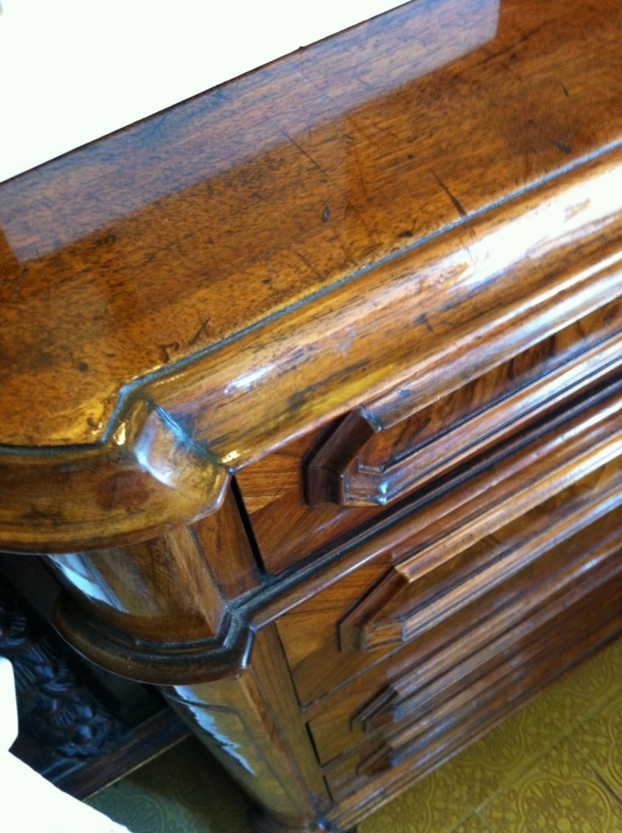 Walnut chest of drawers Jane Harman storage and furniture restoration in Florence