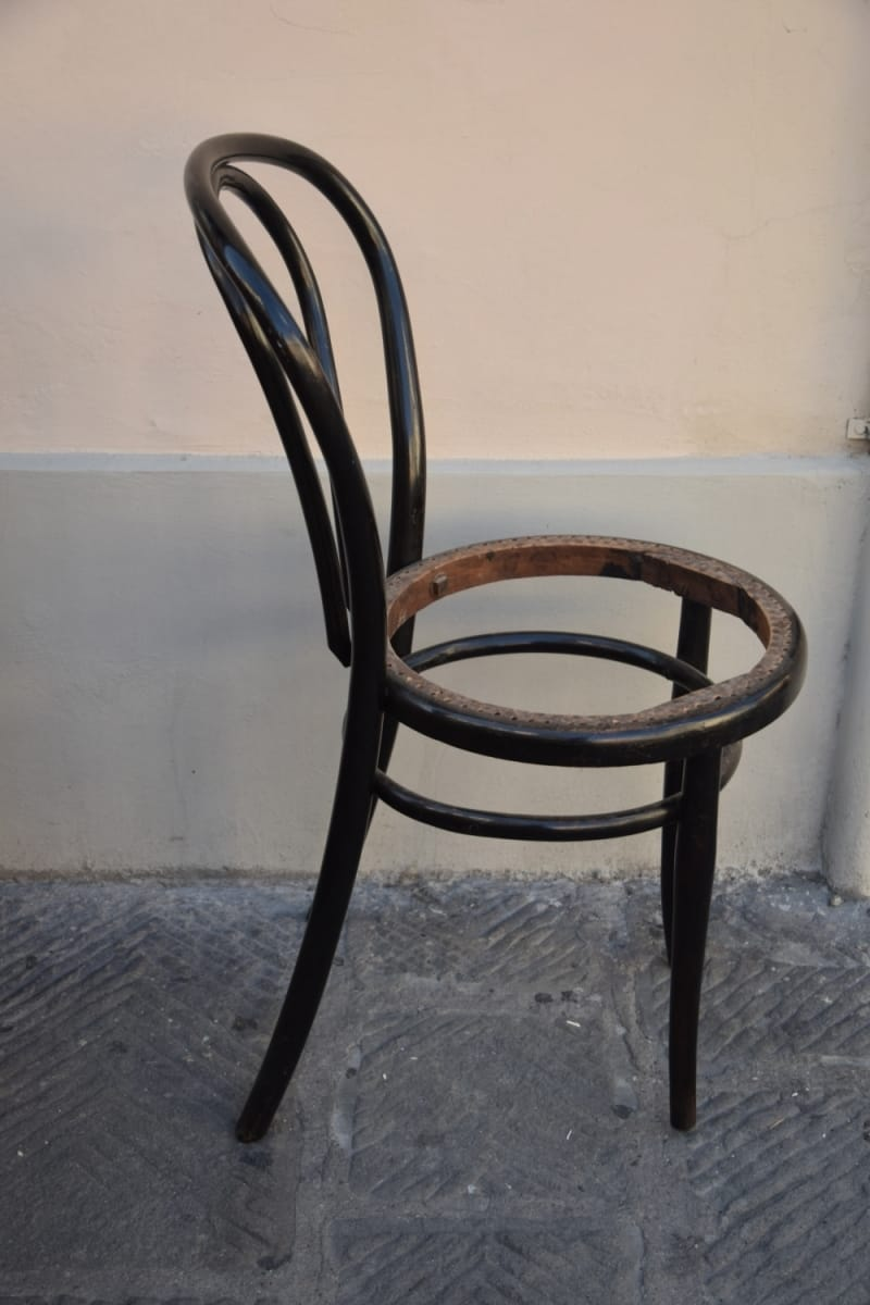 Restored Thonet chair Jane Harman storage and furniture restoration in Florence