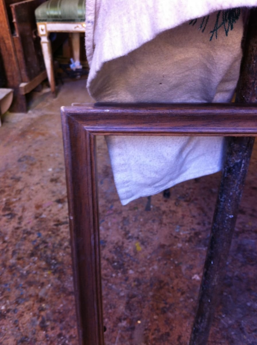 Silver frame Jane Harman storage and furniture restoration in Florence