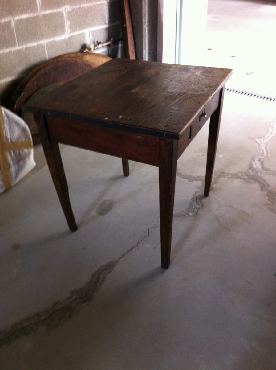 Table with drawer Jane Harman storage and furniture restoration in Florence