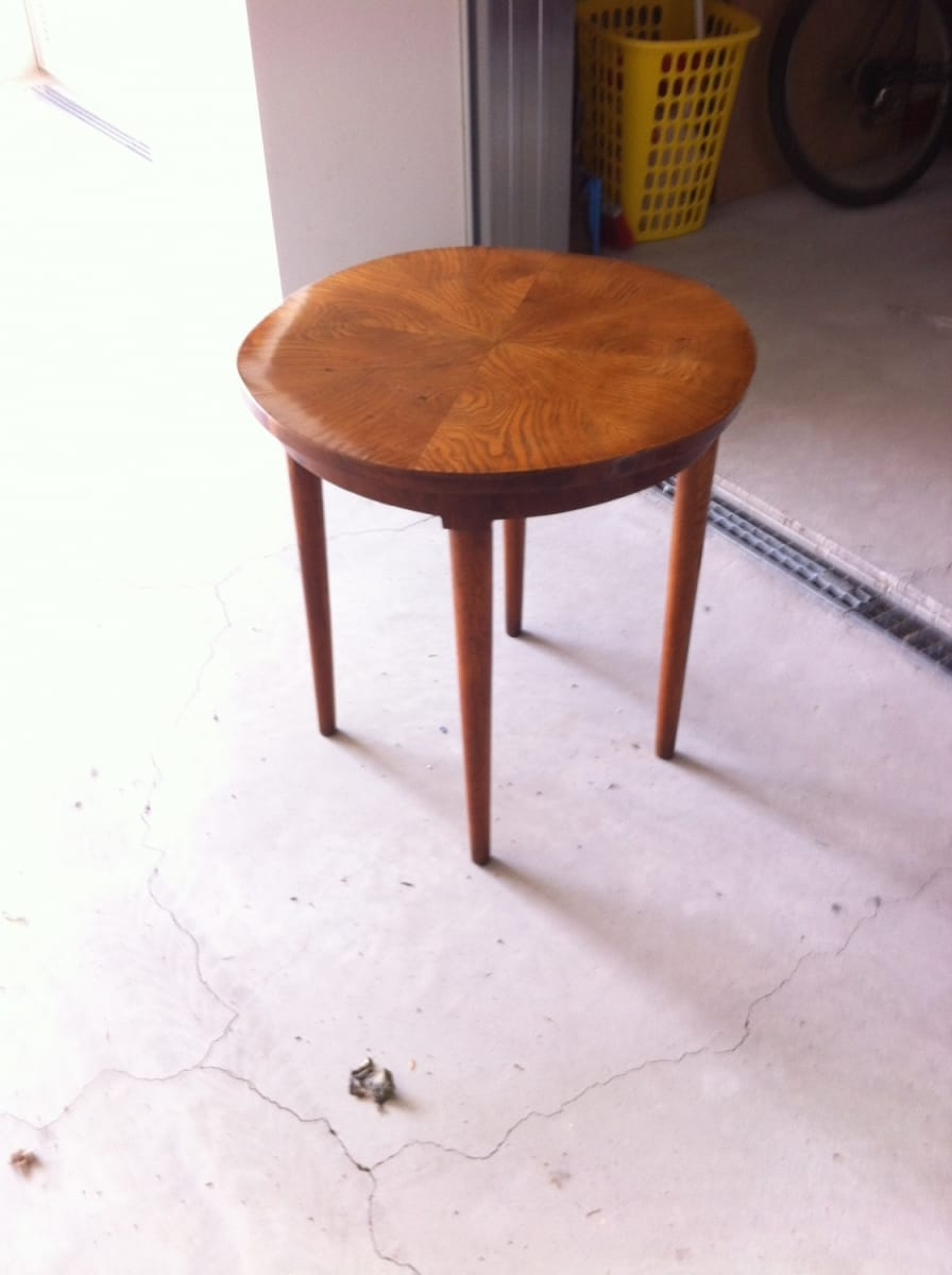 Small table with two armcahirs 1940's Jane Harman storage and furniture restoration in Florence